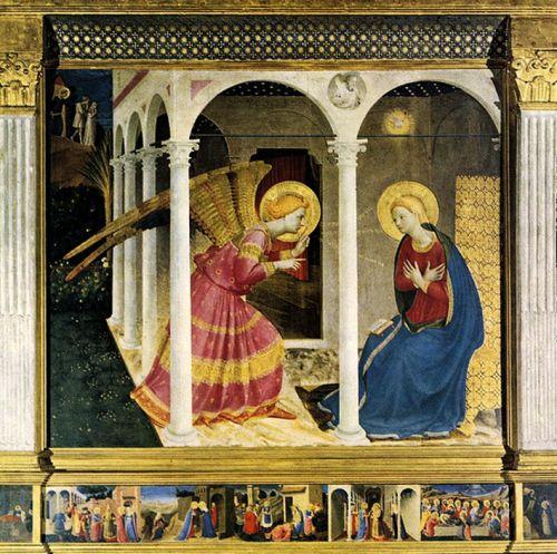Fra Angelico Annonciation et Adam et Eve blog.jpg