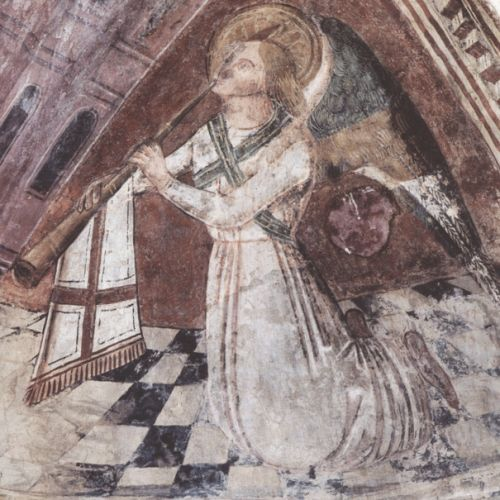 corse,san tumasgiu di pastureccia,castellu si rustinu,christ pantocrator,jerusalem céleste,tétramorphe,annonciation,abside en cul de four