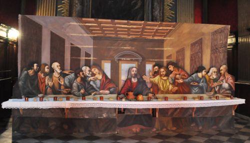 Bastia -La Cène - Albert Gilio 1950- Oratoire St Roch vendredi Saint 2012 appartient à la Conception copie.jpg