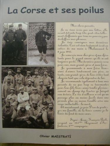 compte des morts de la guerre de 14-18 en corse,le mémorial des poilus corses