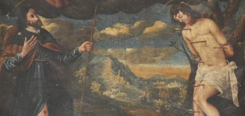 M A de Santis détail St Roch et Sébastien et paysage blog.jpg