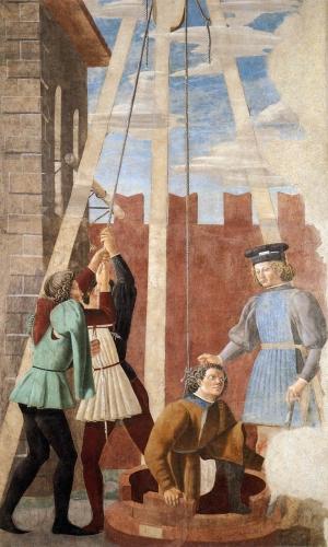 Arezzo Torture du Juif Piero della Francesca réalisé par Giovanni da Piamonte.jpg