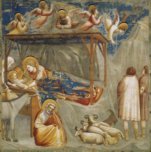 Giotto, chapelle Scrovegni Padoue la Nativité.jpg