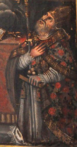 Altiani Remise du Scapulaire à St Antoine Padoue et St Nicolas détail St Nicolas.jpg