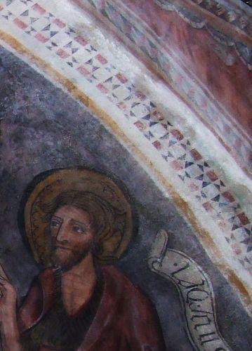 restauration de fresques,gavignano,san pantaleone,style cosmatesque