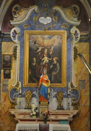 Autel de la Vierge -ste Lucie- ste Catherine Castiglioni Ville di Petrabugno  blog.jpg