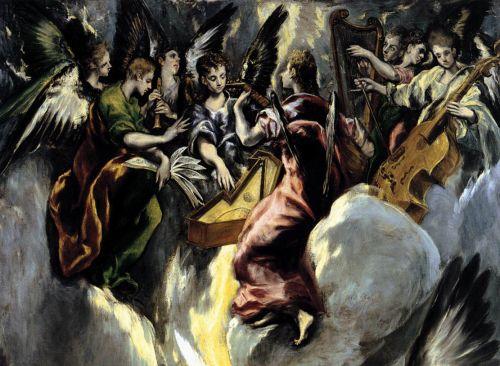 le Greco annonciation Prado détail anges musiciens.jpg