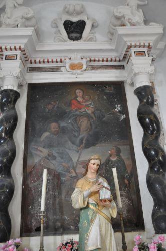 Scata Vierge ste Lucie, St Roch et un évèque blog.jpg