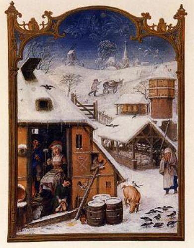 Février Bréviaire Grimani-1450-1510 miniature sur parchemin bibliothèque nationale, Venise.jpg