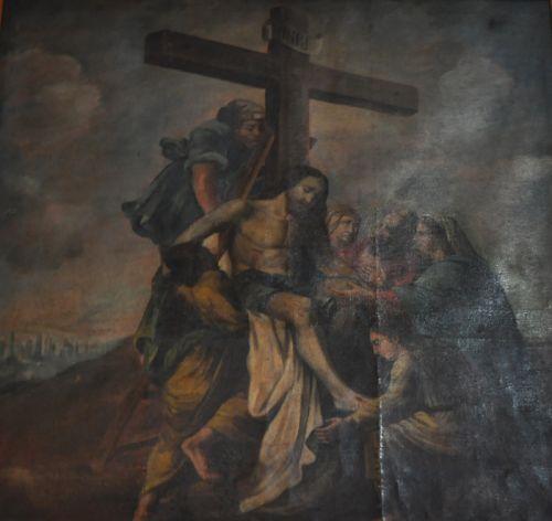 Poretto église Annonciation sepolcru descente de croix Brunetti.jpg