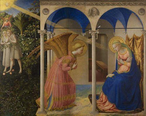 Fra Angelico Adam et Eve chassés du Paradis et  Annonciation.jpg