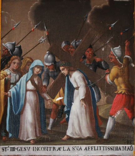 peinture populaire,corse,semaine sainte,chemin de croix