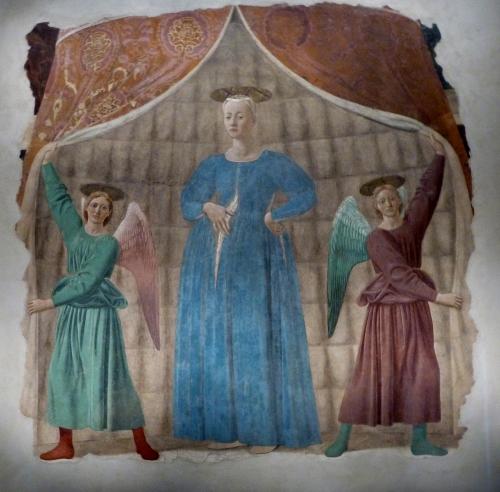 Piero della Francesca Madonna del Parto 1467 Monterchi copie.jpg