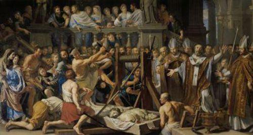 Invention des reliques des Sts Gervais et Protais par St Ambroise 386 - Philippe de Champaigne.jpg