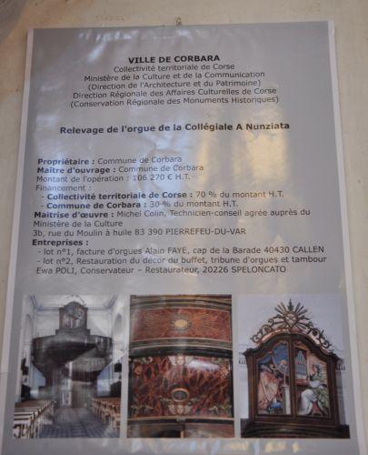 corbara,bénédiction de l'orgue de corbara,évêque de corse,monseigneur olivier de germay,alain sals,alain faye,ewa poli