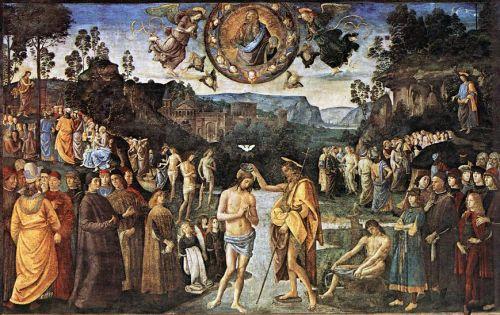 baptême du christ,st jean-baptiste,ignaziu saveriu raffali,ficaghja,poussin,giottopatinir,ghirlandaio,perugino
